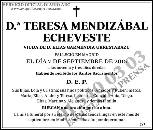 Teresa Mendizábal Echeveste